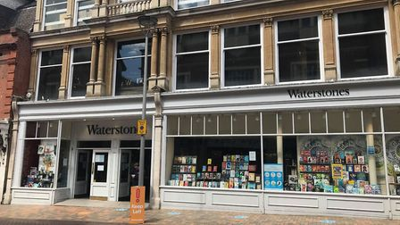 Waterstones in Ipswich has now reopened to the public following coronavirus. Picture: ARCHANT