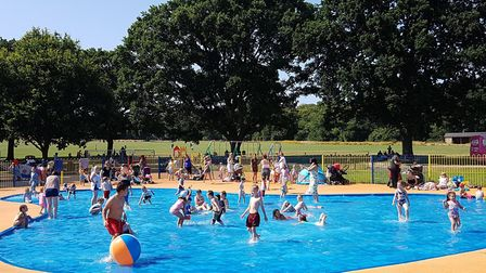 The paddling pool at Bourne Park, in Ipswich. Picture: RACHEL EDGE