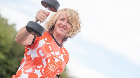 Kelly Townley has set up her own gym at Clopton Park. Picture: SARAH LUCY BROWN