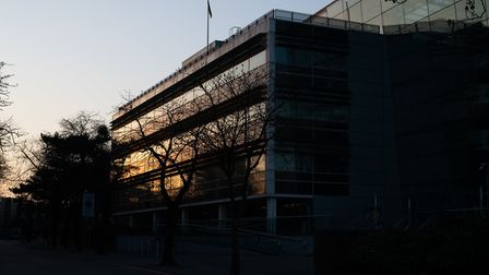 Suffolk County Council's Endeavour House headquarters is still largely empty. Picture: SARAH LUCY B