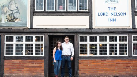 Owners of The Lord Nelson, Thomas West and Josie Merrick Picture: SARAH LUCY BROWN