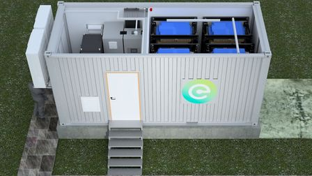 An artist's impression of the inside of a Connected Energy E-STOR faciity Picture: CONNECTED ENERGY