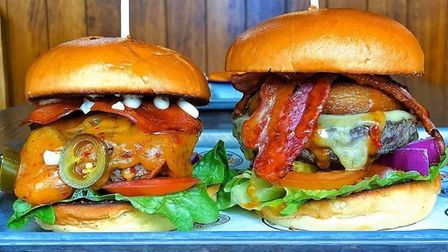 Some of the burgers on the menu at The Burger Priest, which is opening in Ipswich this week Picture: