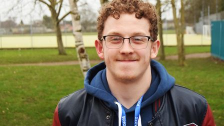 Copleston Sixth Form student Sam Perkins, who is aiming to compete as an Olympic swimmer in the futu
