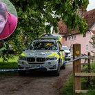 A police cordon in place at the scene, in Barham. Silke Hartshorne-Jones (inset) Picture: SARAH LUC