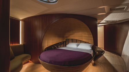 The master cabin on the Spirit 111 Picture: WATERLINE MEDIA