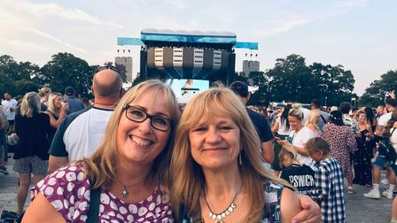 Heather Glasson and sister in law Elaine Archer at the Saturday night show Picture: HEATHER GLASSON