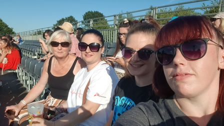 Serena Mickelburgh with family and friends ready to see Ed Sheeran live Picture: SERENA MICKELBURGH