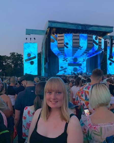 Charmaine Tooke's first concert experience seeing Ed at Chantry Park Picture: CHARMAINE TOOKE
