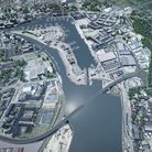 The Upper Orwell Crossings would have linked the east and west banks of the Waterfront. Picture: SU