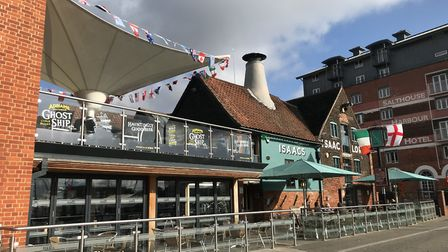 Isaacs on the Quay on Ipswich Waterfront, where queuing went more smoothly at the weekend Picture: E