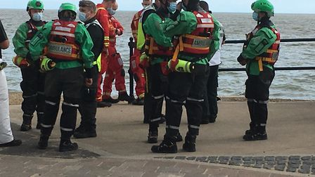 Coastguard teams are searching for swimmers missing off the coast of Felixstowe. Picture: RICHARD CO