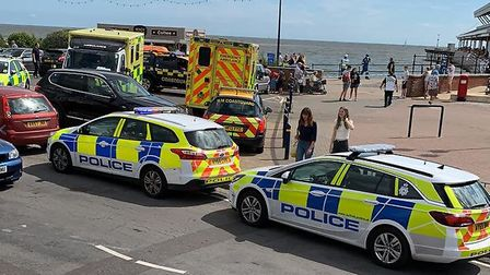 The coastguard are leading a rescue operation to find swimmers in difficulty in the waters off Felix