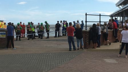Swimmers missing off the coast have Felixstowe have sparked a huge emergency response. Picture: RICH