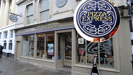 The Pizza Express restaurant in Sudbury is one of those earmarked for closure Picture: ARCHANT/PA I