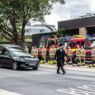 Firefighters at Princes Street fire station pay their respects to their friend and colleague Steve G