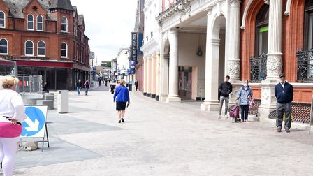 Ipswich town centre was quiet during lockdown Picture: ARCHANT