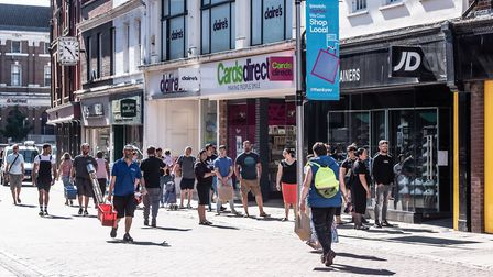 Shoppers enjoyed the shops on the first day of reopening after lockdown Picture: SARAH LUCY BROWN