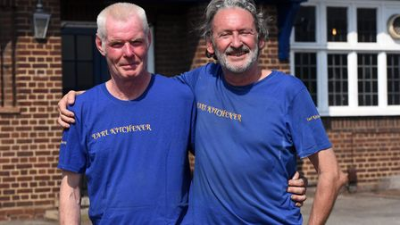 Denis Prendergast and Clive Woodard are the new landlords of The Earl Kitchener in Ipswich. Picture