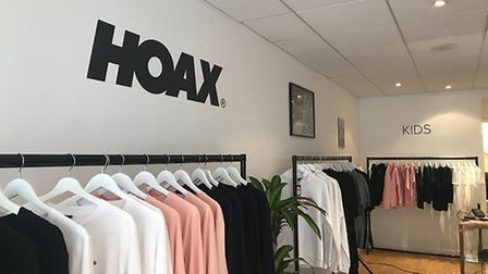 Inside the Hoax pop-up store, which was supported by its brand ambassador Ed Sheeran. Picture: SOPHI