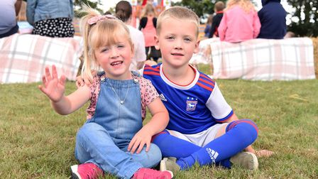 Aubree and Harrison at the family fun day at Wherstead Park Picture: CHARLOTTE BOND