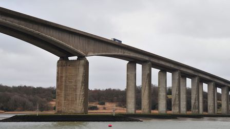 The body of a man has been found below the Orwell Bridge. Stock image Picture: SARAH LUCY BROWN