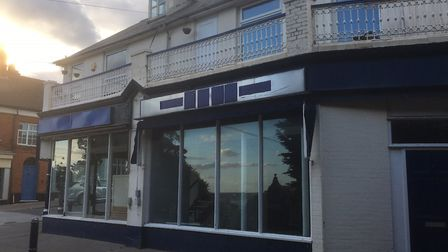 The former antique shop in Hamilton Road, Felixstowe, which will become a cafe and flats Picture: RI