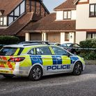 A strong Suffolk police presence remains at the scene of the Kesgrave shooting. Picture: SARAH LUCY