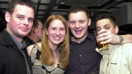 Enjoying a drink at Pals in Ipswich in 2002 Picture: LUCY TAYLOR/ARCHANT