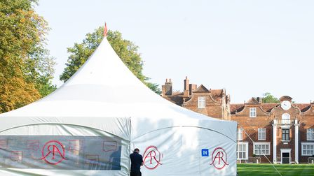 The BBC are setting up for the Antiques Roadshow at Christchurch Mansion. Picture: SARAH LUCY BROWN