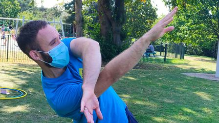 Matthew Winston at the DanceEast The Dance WE Made event in Christchurch Park, Ipswich Picture: VICT
