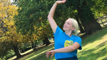 Kaia Goodenough at the DanceEast workshop in Christchurch Park, Ipswich Picture: VICTORIA PERTUSA