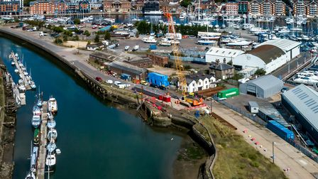 Repairs underway to New Cut wall at ABP Port of Ipswich Picture: STEPHEN WALLER/ABP