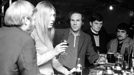 Cheers! A night out at the Ipswich Arms pub in 1974 Picture: DAVID KINDRED
