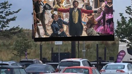 Audiences are being treated to 12 movies in four days at Trinity Park's drive-in film experience at