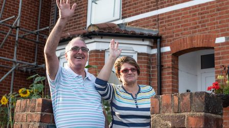 Janette and Nick Powell are part of the Cobbold Street community Picture: SARAH LUCY BROWN