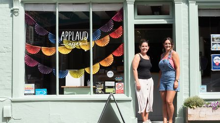 The owners of Applaud, sisters Hannah Huntly and Beth Cook, say Costa Coffee keeps them on their toe