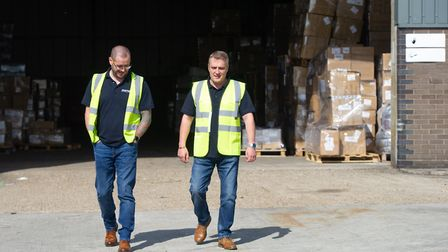 Imorex Shipping Services Managing Director Graeme Connor and Operations Director Ross Bryant Picture
