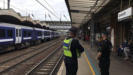 Patrols being carried out at Ipswich railway station Picture: SUFFOLK CONSTABULARY