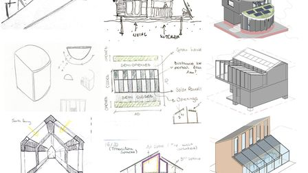 Initial concepts for the EcoLab which were produced by architecture students from different universi
