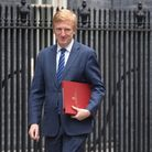 Culture, Media and Sport Secretary, Oliver Dowden in Downing Street in London.