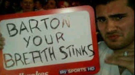 Bradley Johnson regrets that picture about Joey Barton. Picture: Twitter