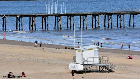 Lowestoft beach during lockdown. Picture: Mick Howes