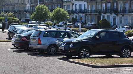 Car parks in use in Lowestoft on bank holiday Monday at the end of May. Picture: Mick Howes