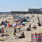 Lowestoft beach on the hottest day of the year. Picture: Mick Howes