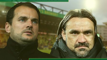 Norwich City sporting director Stuart Webber, left, and head coach Daniel Farke Picture: Archant