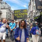 A protester at the People's Vote March. Photograph: Jono Read/Archant