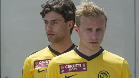 Aaron Altaras (left) and Max Hubacher star in Mario. Picture: Contributed