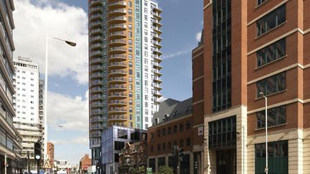 The development will be on the former site of Britannia Music in Roden Street.