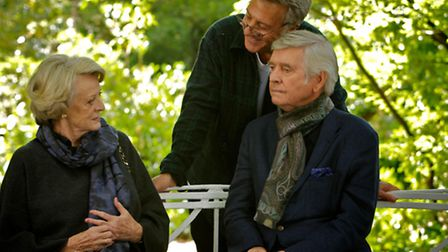 Behind the scenes of Quartet. Pictured: (l-r)Maggie Smith, Dustin Hoffman and Tom Courtenay. Pic: PA